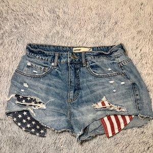 Garage American Flag Shorts